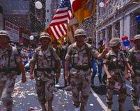 De Militaire Parade van de Overwinning van het Onweer van de woestijn, Royalty-vrije Stock Foto's