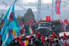 De Militaire Parade van Noord-Korea royalty-vrije stock foto's