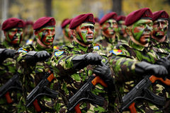 De Militaire Parade van Roemenië Royalty-vrije Stock Foto