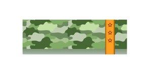 De militaire prentbriefkaar met sterren is een goede gift aan verwanten en vrienden Stock Fotografie