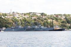 De militaire schepen zijn bij ligplaats Royalty-vrije Stock Afbeelding
