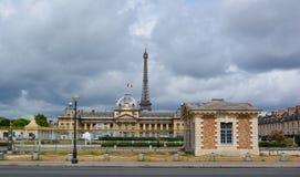 De militaire school van Parijs Stock Afbeeldingen