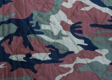 De militaire textuur van camouflagestoffen Stock Afbeelding