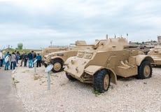 De militaire uitrusting sinds de Oorlog van Onafhankelijkheid van Israël is op de Herdenkingsplaats dichtbij het Gepantserde Korp royalty-vrije stock afbeelding