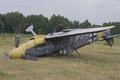 De militaire vliegtuigen van de neerstorting Stock Foto's