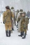 De militairen gaan kamperend Royalty-vrije Stock Foto