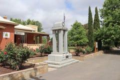 De militairen herdenkingszaal in Castlemaine herdenkt de militairen en de vrouwen die in conflicten dienden die Australië implice royalty-vrije stock foto's