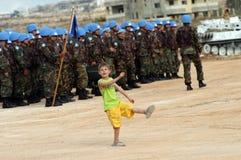 De Militairen Libanon van de V.N. royalty-vrije stock afbeelding