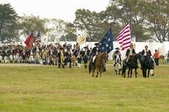 De militairen maart van de patriot Royalty-vrije Stock Afbeeldingen
