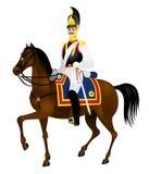 De militairen van de cavalerie, Cuirassier, Paard Royalty-vrije Stock Afbeelding