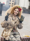 De militairen van de Maidanadefensie Royalty-vrije Stock Fotografie