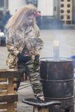 De militairen van de Maidanadefensie Royalty-vrije Stock Foto's