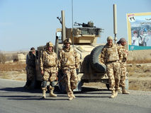 De militairen van de NAVO in Afghanistan Royalty-vrije Stock Foto's