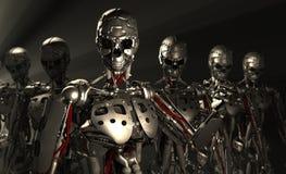 De militairen van de robot Stock Foto's