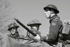 De militairen van de Wereldoorlog II Stock Foto