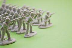 De militairen van het leger in oorlog Stock Foto