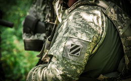 De Militairen van het Leger van de V Stock Afbeeldingen