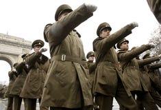 De militairen van het leger in vorming Stock Fotografie