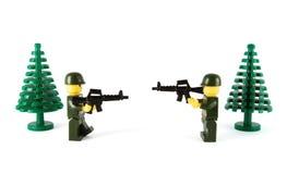 De militairen van het speelgoed Royalty-vrije Stock Foto's