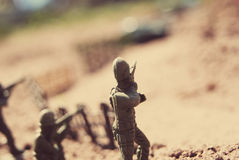 De Militairen van het stuk speelgoed Stock Foto's