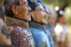De militairen van het terracotta Stock Foto