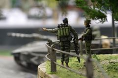 De militairen van Izraeli Royalty-vrije Stock Foto