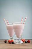 De milkshake wodeen lijst Stock Fotografie
