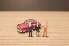 de min cijfers van mensen en auto Royalty-vrije Stock Afbeeldingen