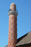 De minaret van bakstenen Stock Foto's