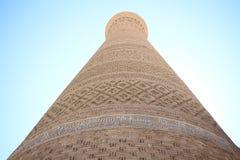 De minaret van Boukhara, Oezbekistan Stock Foto