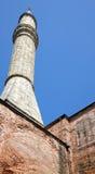 De minaret van Hagia Sophia, Istanboel Stock Fotografie