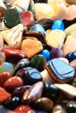 de minerale inzameling van kleurengemmen Stock Afbeeldingen