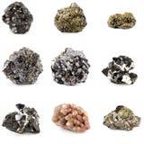 De mineralen van het erts Stock Fotografie