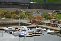 De miniatuur Club van het Jacht in Madurodam. Royalty-vrije Stock Foto's