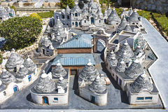 De miniatuurspeelplaats van Italië van trullialberobello Royalty-vrije Stock Afbeeldingen