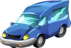 De minibus van het beeldverhaal royalty-vrije illustratie