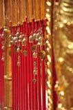 De miniklok van staven van de tempel, Phra die Doi Suthep Royalty-vrije Stock Fotografie