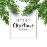 De minimale Achtergrond van de Kerstmislay-out royalty-vrije illustratie