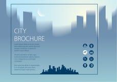 De minimale informatie van de stads reizende toerist Horizontale A4 brochu Royalty-vrije Illustratie
