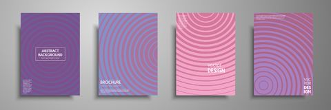 De minimale kleurrijke reeks van het dekkingsmalplaatje Abstract ontwerpmalplaatje voor brochures, vliegers, banners, boekdekking Royalty-vrije Stock Afbeelding