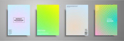 De minimale kleurrijke reeks van het dekkingsmalplaatje Abstract ontwerpmalplaatje voor brochures, vliegers, banners, kopballen,  Stock Fotografie