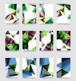 De minimale vector behandelt achtergrondreeks Royalty-vrije Stock Afbeeldingen