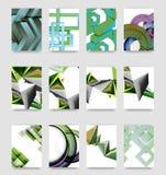 De minimale vector behandelt achtergrondreeks Royalty-vrije Stock Foto's