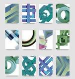 De minimale vector behandelt achtergrondreeks Stock Foto's