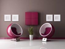 De minimale zitkamer van de manier Royalty-vrije Stock Foto's