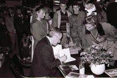 DE MINISTER VAN BUITENLANDSE ZAKEN 1982-1993 UFFE ELLEMANN JENSEN VAN DENEMARKEN ` S stock afbeelding