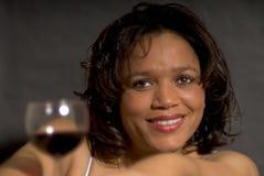 De minnaar van de wijn Stock Foto