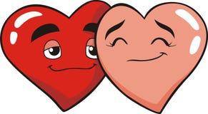 De Minnaars van het hart Stock Foto's