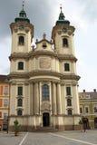 De Minorite-kerk in Eger Hongarije Royalty-vrije Stock Foto's