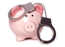 De misdaad betaalt niet stock afbeeldingen